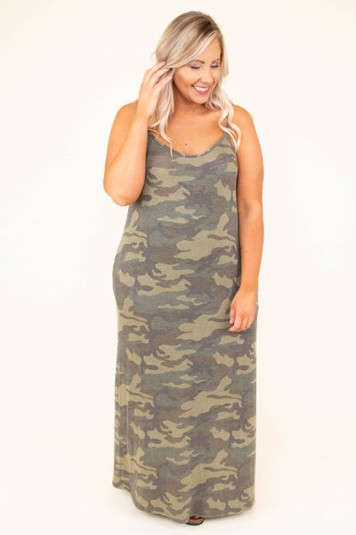 Keep the World Out Maxi Dress, Olive