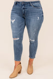 bottoms, jeggings, blue, medium wash, distressed, skinny jean, casual, comfy
