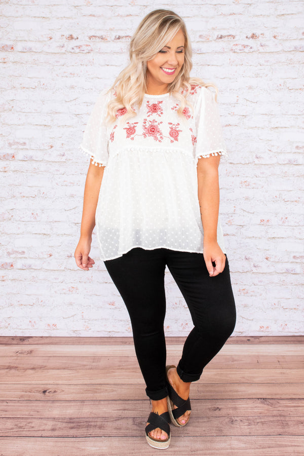 Saved By Love Top, White