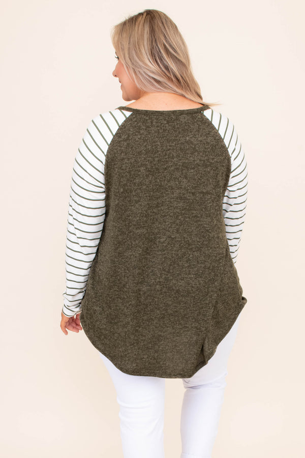 Number One Choice Top, Olive