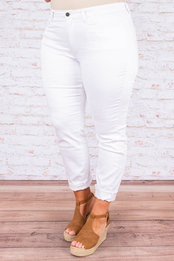 Beyond Beautiful Jeans, White