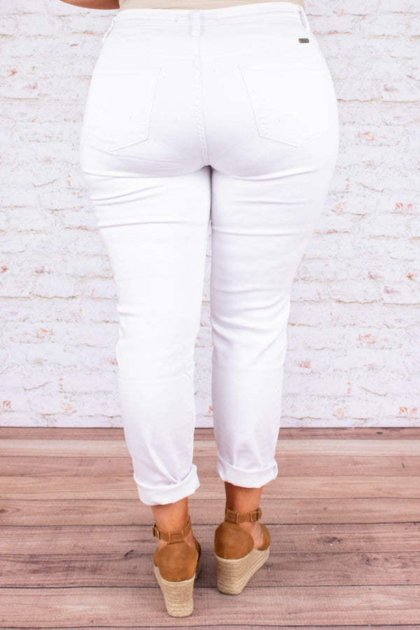 jeans, white, denim, flattering, solid, summer