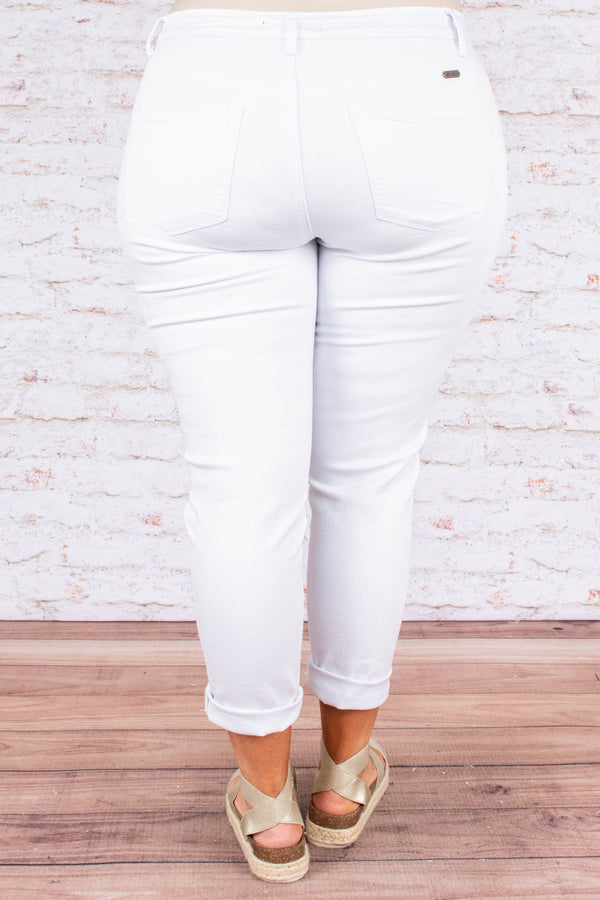 Why Deny It Jeans, White