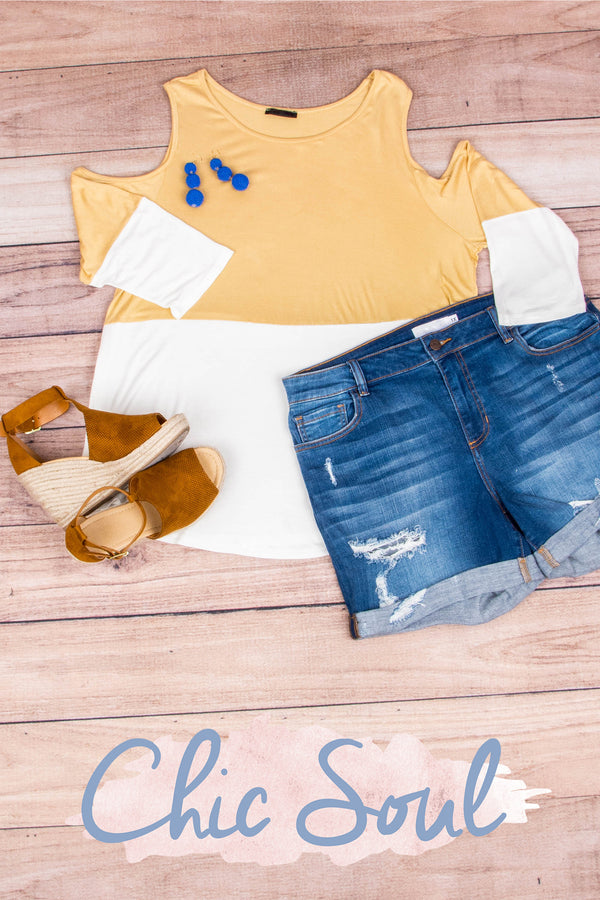 Divine Intervention Top, Dusty Yellow
