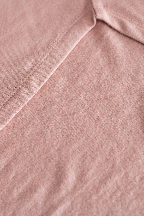 tunic, long sleeve, blush, solid, comfy, loose, curved hem, fleece