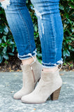 Like Nobody Else Booties, Beige