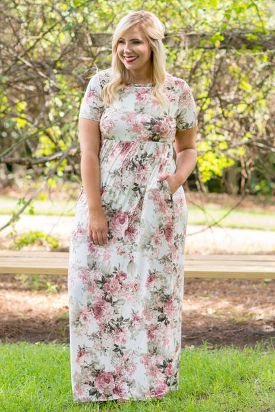 Find The Time Maxi Dress, Ivory