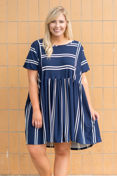 Feeling Nautical Dress, Navy
