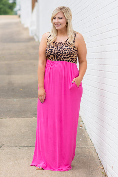 She's Got It All Maxi Dress, Hot Pink