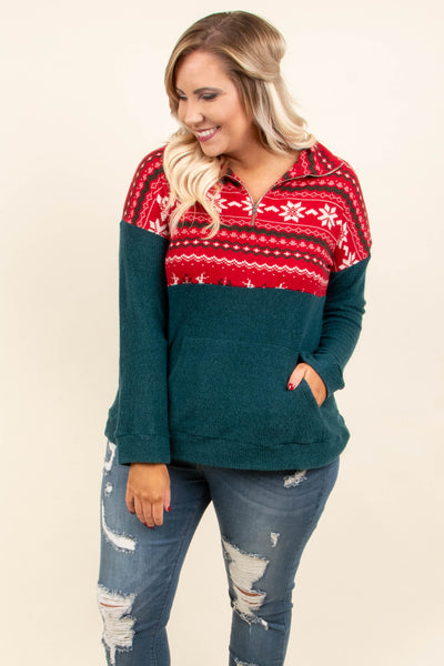 The First Frost Pullover, Red