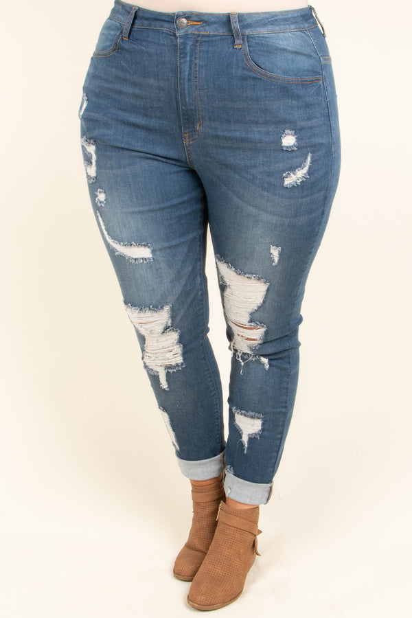 Natural Connection Skinny Jeans, Dark Wash