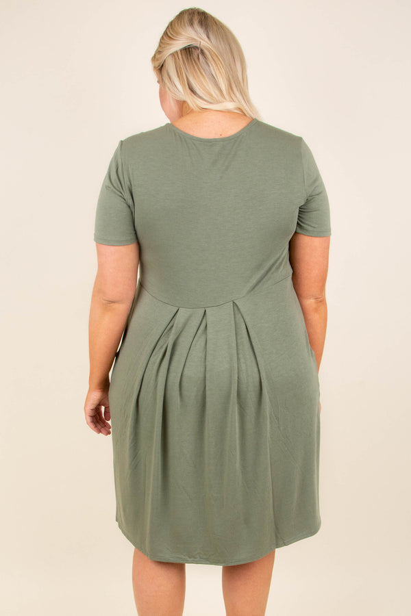 Don't Be Afraid Dress, Light Olive