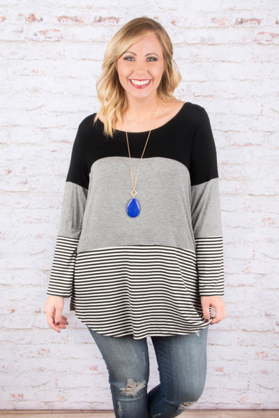 Simple Days Tunic, Gray