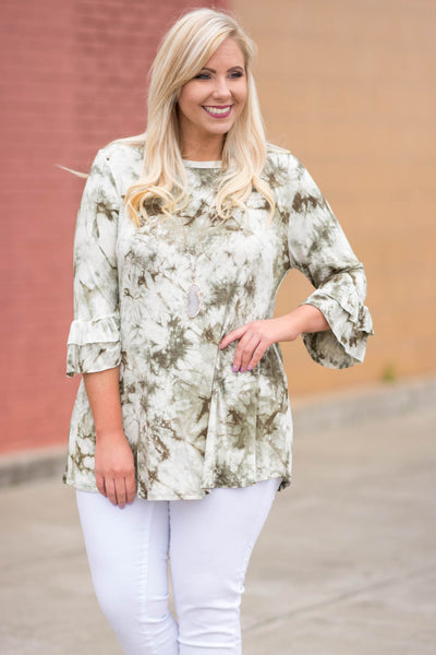 Wishing For The Weekend Tunic, Olive