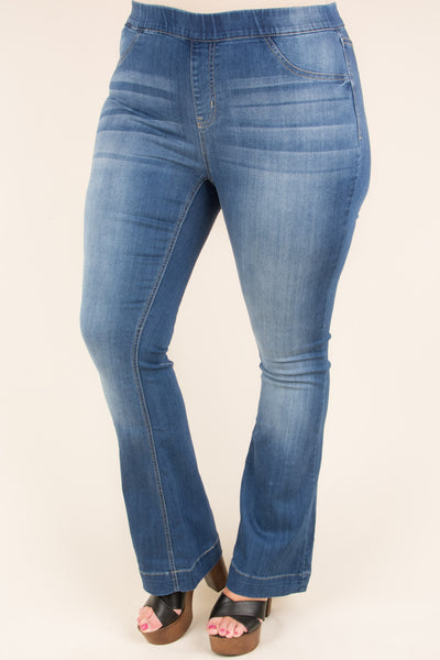 Groove With Me Flare Jeans, Medium Wash