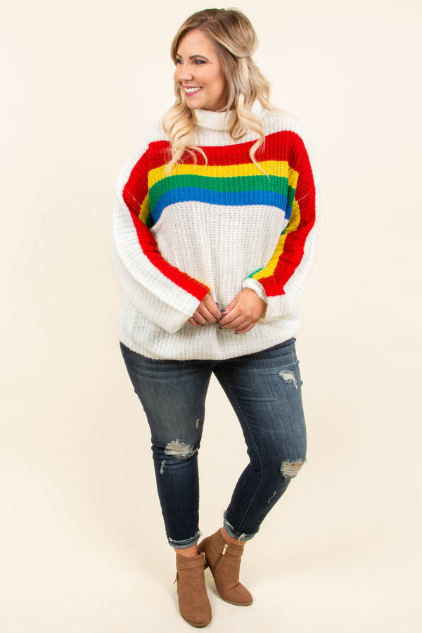 All Sunshine And Rainbows Sweater, Off White