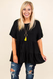 Coffee Date Tunic, Black