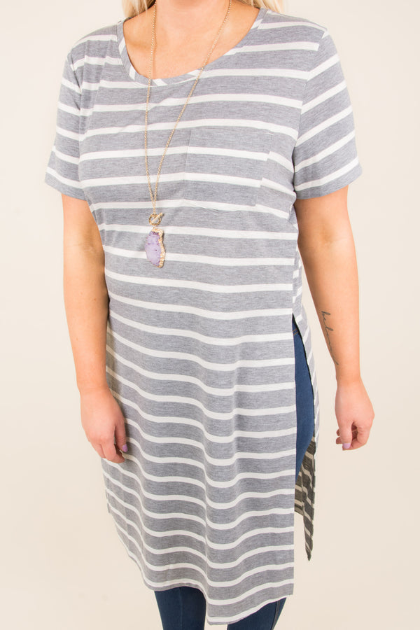All About Today Tunic, Gray