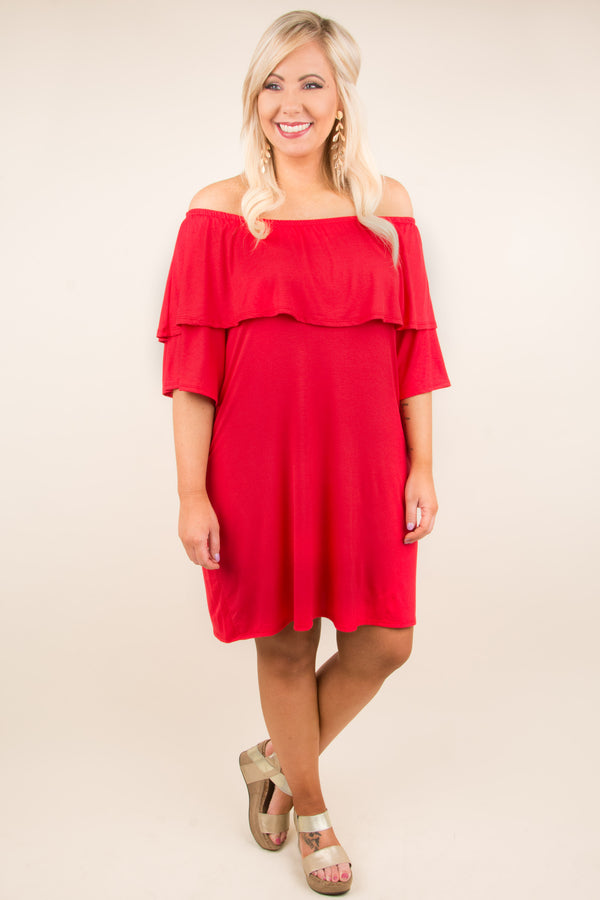 Dance With Me Dress, Red