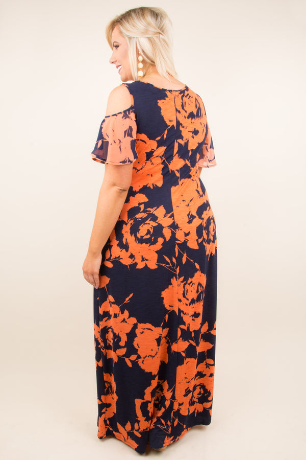 Figure You Out Maxi Dress, Navy