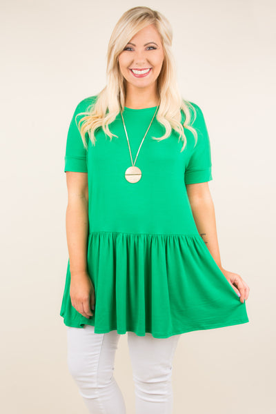 Sweetly Said Top, Kelly Green