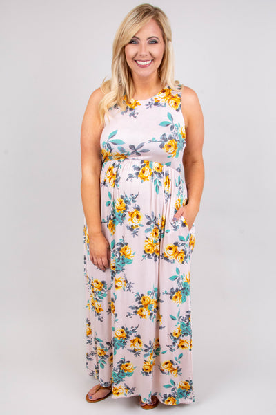 Follow The Flowers Maxi Dress, Pink