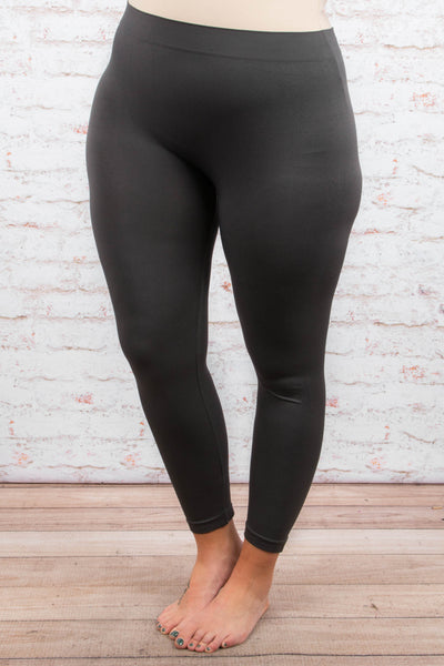 Girl Next Door Leggings, Dark Gray