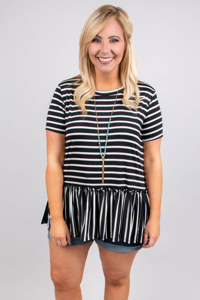 Accidentally In Love Top, Black-Ivory