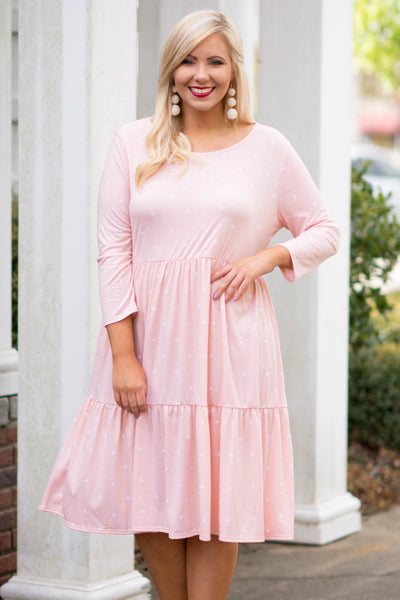 Walk In The Park Dress, Blush
