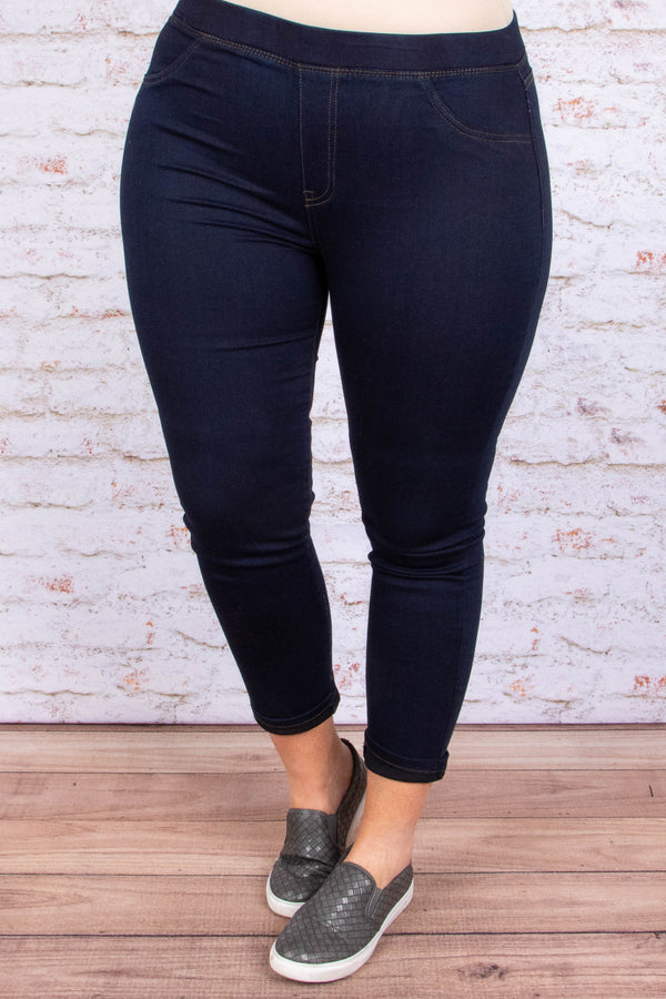 bottoms, pants, cropped, super dark wash, jeggings, solid