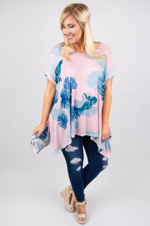 Meant For The Tropics Top, Dusty Pink