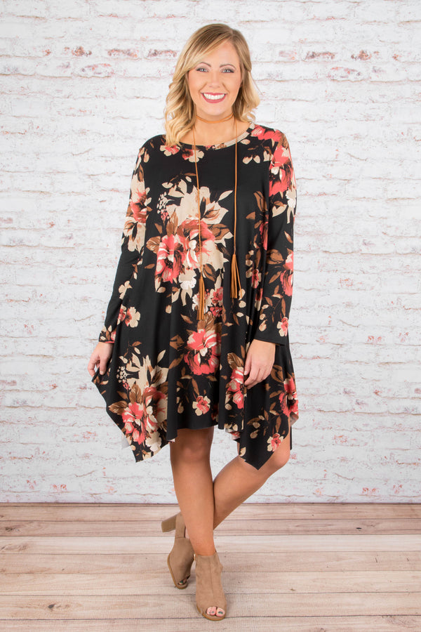 Downtown Romance Dress, Black