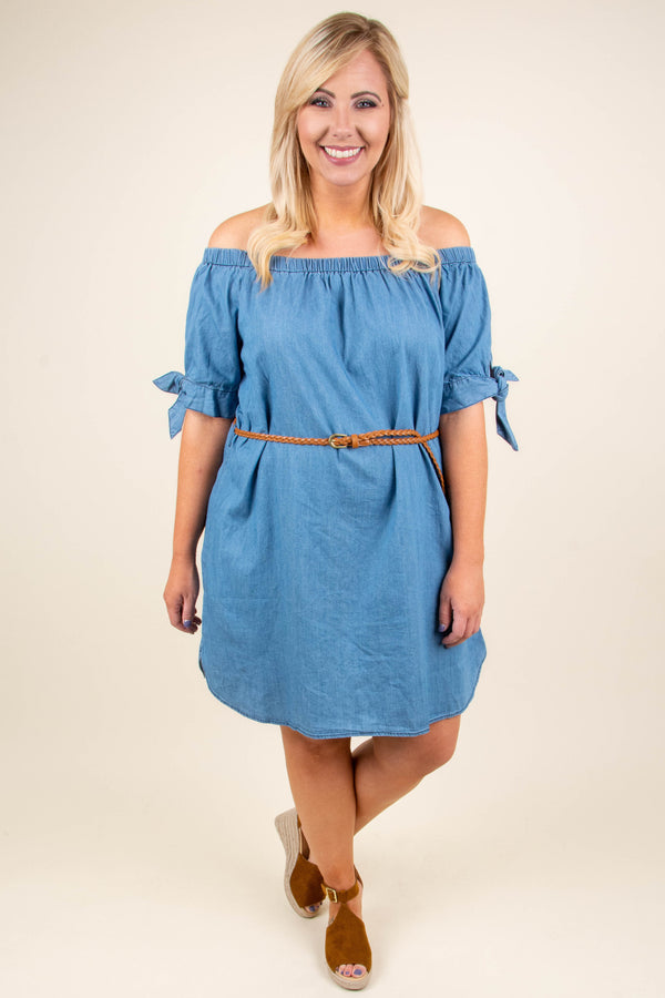Can't Hurry Love Dress, Blue