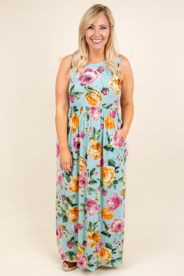 Chic Of Perfection Maxi Dress, Mint
