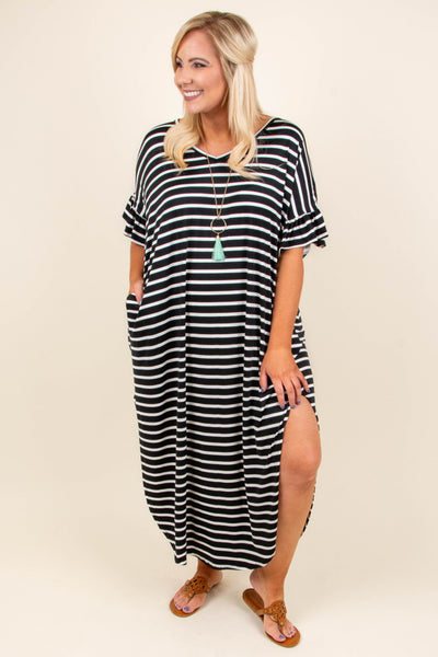 Dive Into Summer Maxi Dress, Black-Ivory