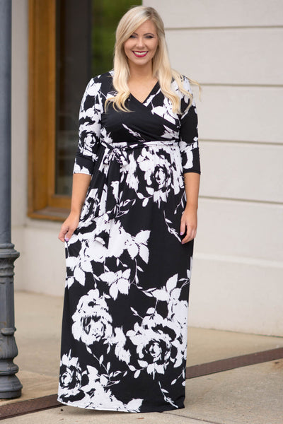 Beneath the Palms Maxi, Black-Off White