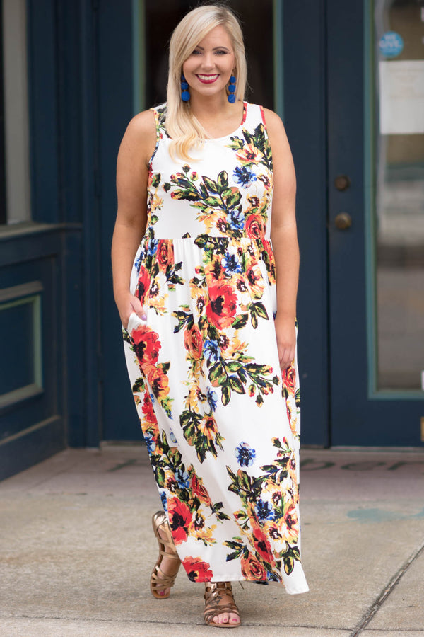 Road To Paradise Maxi Dress, Ivory