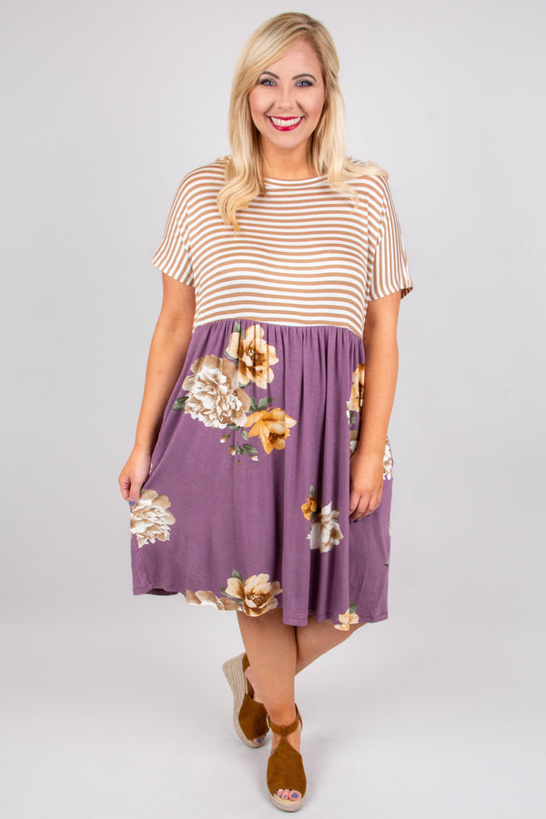 Out To Lunch Dress, Ash Purple
