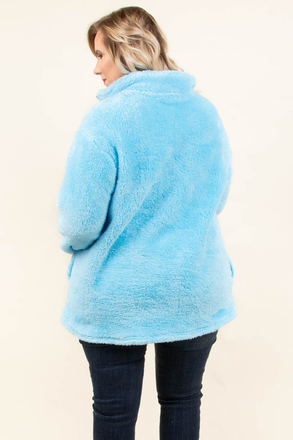 Perfectly Plush Pullover, Blue