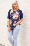 Far Away Places Top, Navy