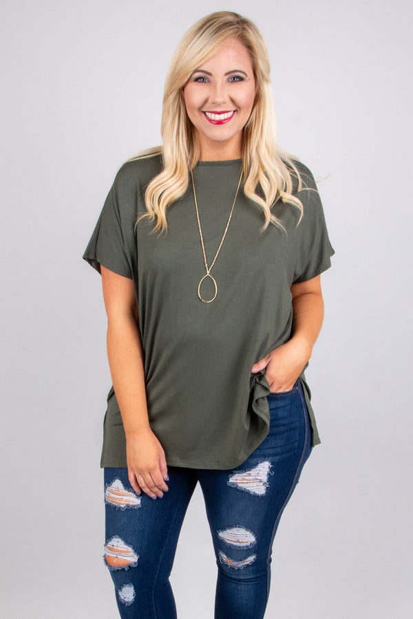 Call On It Tunic, Olive