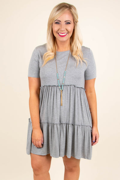Swing Into Summer Dress, Heather Gray