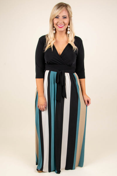 Missing Link Maxi Dress, Black