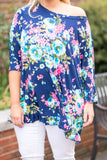 Devoted To You Tunic, Navy