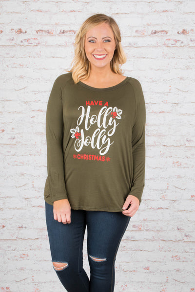 Holly And Jolly Top, Olive