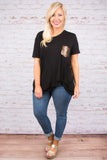 All That Shimmers Top, Black