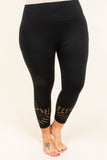 High Energy Cropped Leggings, Black