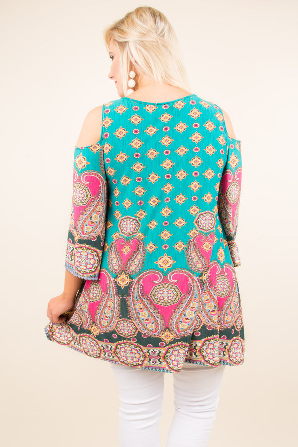 Paisley Please Tunic, Teal