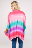 Color My Soul Cardigan, Coral-Mint