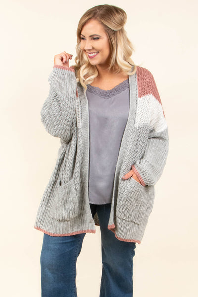 Leap Year Cardigan, Mauve
